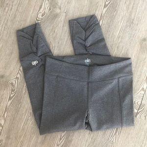 NWOT ALO Yoga Capri Gray Workout Ruched Calfs, XS